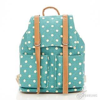 B.B. HOUSE - Polka Dot Canvas Backpack