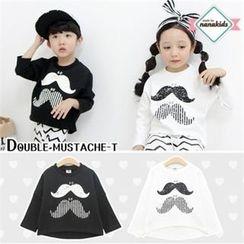 nanakids - Kids Dolman-Sleeve Mustache Print T-Shirt