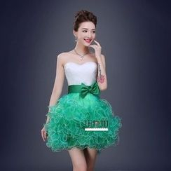 Bridal Workshop - Strapless Ruffle Mini Prom Dress
