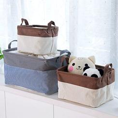 Home Simply - Striped Panel Organizer Basket