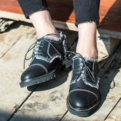 MIAOLV - Fringed Low Heel Oxfords