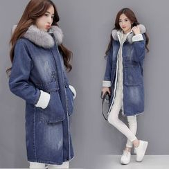 Romantica - Faux-Fur Denim Coat
