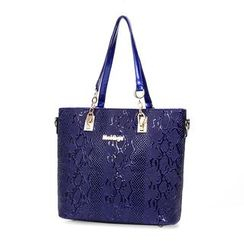 Beloved Bags - 五件套: 仿皮手提袋 + 波士顿包 + 肩包 + 手包 + 长款钱包