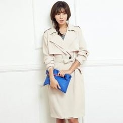 ANNINA - Flap-Detail Trench Coat