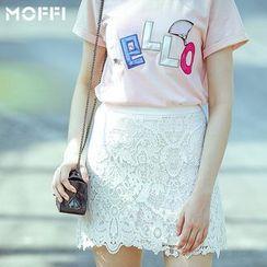 MOFFI - Lace Mini Skirt
