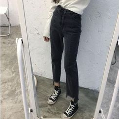 CosmoCorner - Cropped Boot Cut Jeans