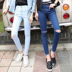 Denimot - Ripped Skinny Jeans