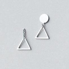 A'ROCH - 925純銀三角耳環