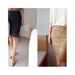 MASoeur - Lace Pencil Skirt