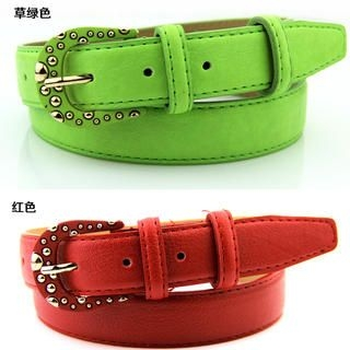 Cuteberry - Faux-Leather Studded Belt