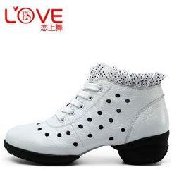 恋上舞 - 真皮系带舞蹈休閒鞋