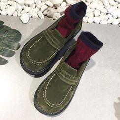 SouthBay Shoes - Platform Slip-Ons