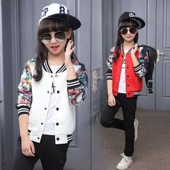 Pegasus - Kids Floral Panel Baseball Jacket