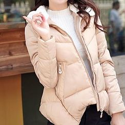 Neeya - Faux Fur Trim Hooded Padded Jacket