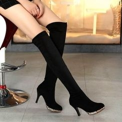 JY Shoes - High Heel Over The Knee Boots