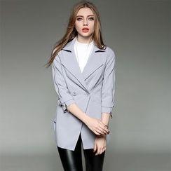 Y:Q - Plain 3/4-Sleeve Jacket