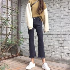Anlay - Fringed Wide Leg Cropped Jeans