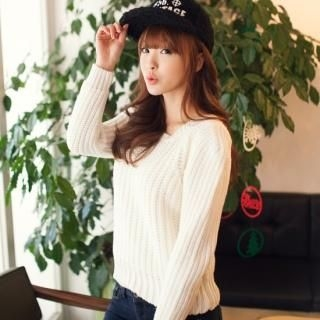 2fb - Crew-Neck Puff-Sleeve Knit Top