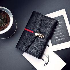 薇薇 - 条纹贴布绣长款钱包
