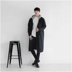 Seoul Homme - Double-Breasted Long Coat