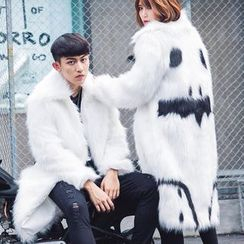 Bay Go Mall - Couple Matching Print Faux Fur Coat
