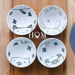 house on map - Animal Print Bowl