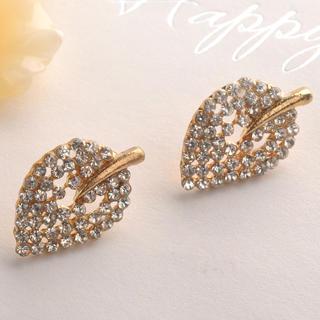 Fit-to-Kill - Diamond Leaf Earring