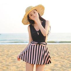 Vicki Vicki - Striped Bow Swimdress
