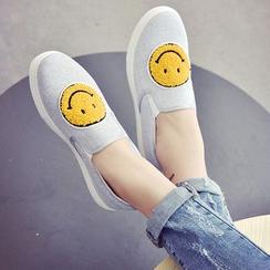 Shoeland - 笑脸贴布绣轻便鞋