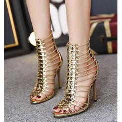 Monde - High-heel Ankle Sandals