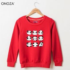 Onoza - 熊猫印花套头衫