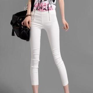 On The Block - Dual-Zip Cropped Skinny Pants