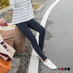 OrangeBear - Lace ripped Stretch Skinny Pants