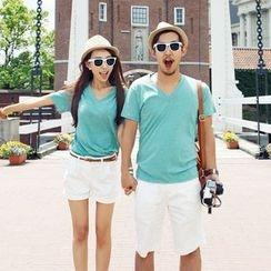 Honey Lemon - 套裝:情侶T恤 + 短褲