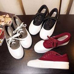 幸福鞋坊 - 插色休閒鞋