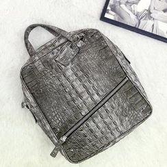 NANING9 - Croc-Grain Backpack