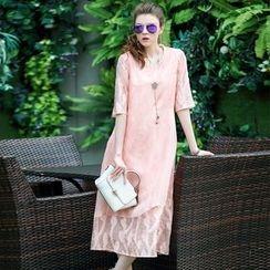 洛圖 - 短袖連衣裙