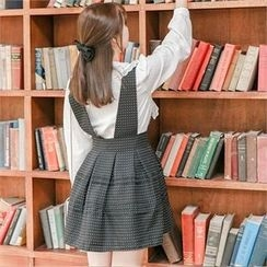 Attrangs - Patterned Suspender Skirt