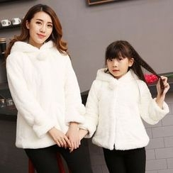 Tabla - Family Matching Faux Fur Hooded Jacket