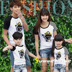 Igsoo - Family Raglan Printed Short-Sleeve T-shirt