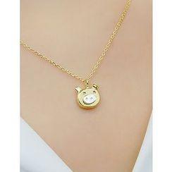 soo n soo - Pig Pendant Necklace