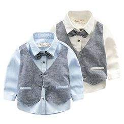 Kido - Kids Mock Two Piece Shirt