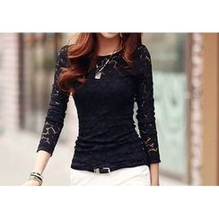 Zyote - Long-Sleeve Lace T-Shirt