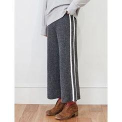 FROMBEGINNING - Wool Blend Wide-Leg Pants