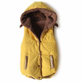 Flower Idea - Fleece-Lined Snap-Button Hooded Vest