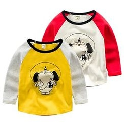 Kido - 小童长袖印花T恤