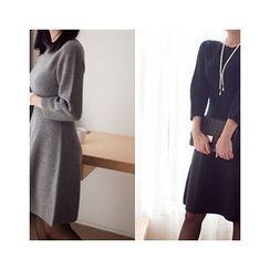 MASoeur - Round-Neck A-Line Knit Dress