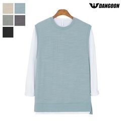 DANGOON - Crew-Neck Sleeveless Cotton Top