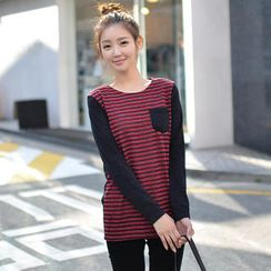 CLICK - Long-Sleeved Striped Top