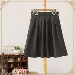 Vateddy - Pleated Midi Skirt